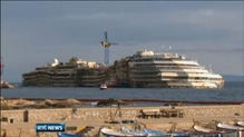 Captain of the Costa Concordia returns to the ship for the first time
