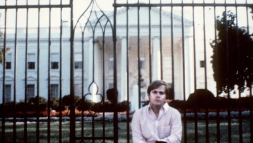 John Hinckley, pictured outside the White House, was found not guilty by reason of insanity