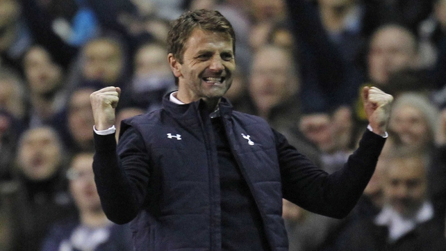 Tim Sherwood celebrates at full-time