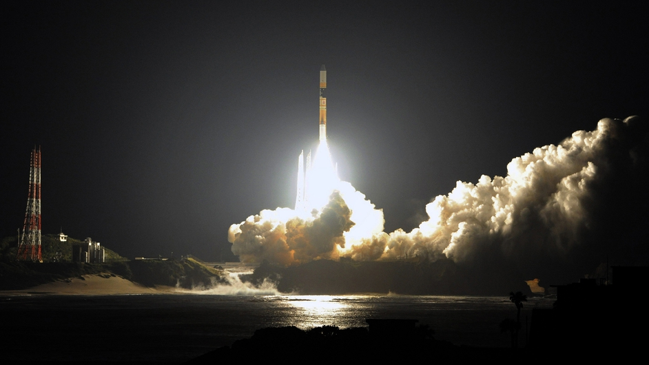 Japan's H-IIA rocket is launched carrying the hi-tech satellite Global Precipitation Measurement (GPM) to monitor global rainfall and help meteorologists forecast big storms