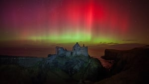 The Northern Lights at Dunluce Castle in Co Antrim (Pic: Martina Gardiner)