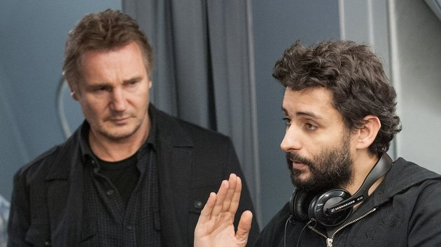 Neeson and Collet-Serra on the Non-Stop set - A meeting of minds
