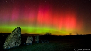 'Aurora heaven' - courtesy of tyroneskies.com - Taken at Beaghmore stone circles in Co Tyrone at 8.30pm