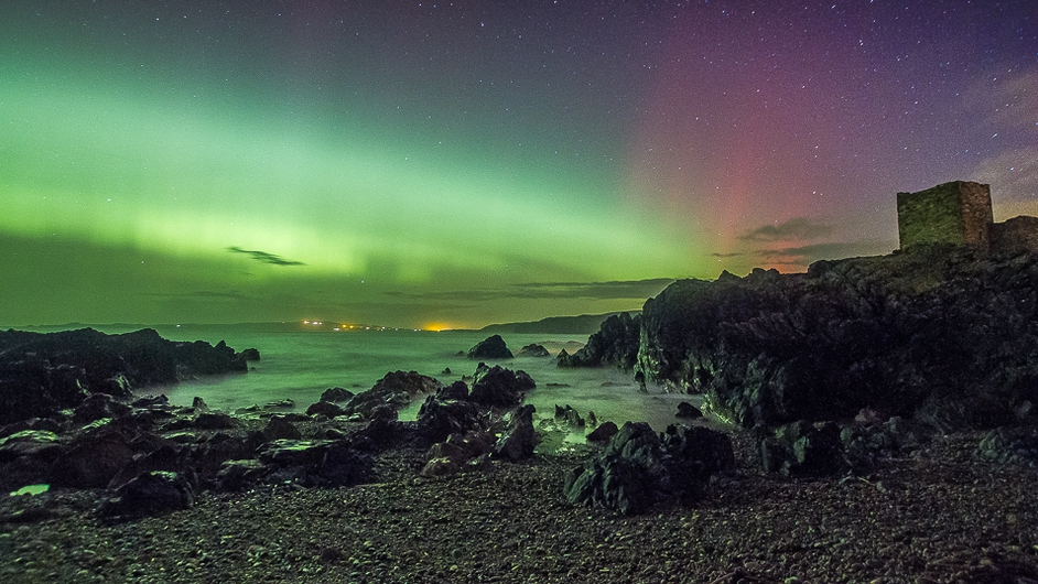 The Northern Lights brighten the skies over Inishowen, Co Donegal (Pic: Brendan Diver)