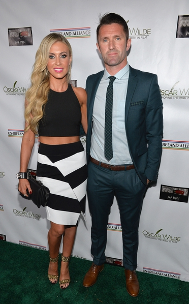 Claudine and Robbie Keane