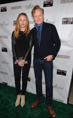 Liza Powel and Conan O'Brien