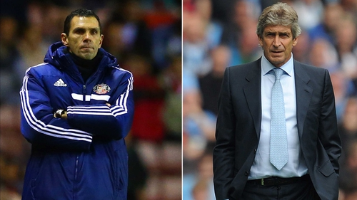 Gus Poyet's Sunderland and Manuel Pellegrini's Manchester City contest the Capital One Cup final on Sunday