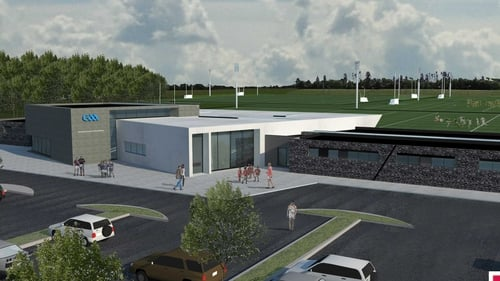 The pitches will be serviced by a new pavilion building that accommodates ten changing rooms