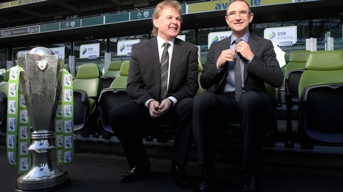 St Pat's boss Liam Buckley with Martin O'Neill at the Aviva