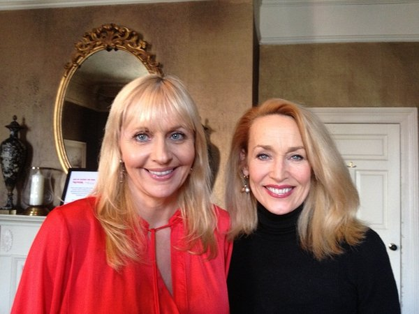 Miriam O'Callaghan and Jerry Hall