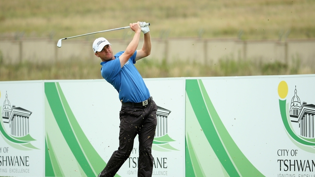 Michael Hoey tees off on the third hole during the third round of the Tshwane Open