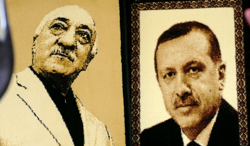 Former ally of Recep Tayyip Erdogan, Fethullah Gulen pictured left lives in the US