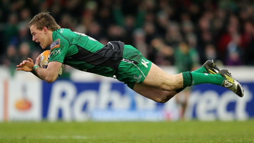 Kieran Marmion scored a try on his 50th appearance for Connacht
