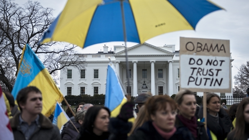Ukrainian activists have also held demonstrations outside the White House