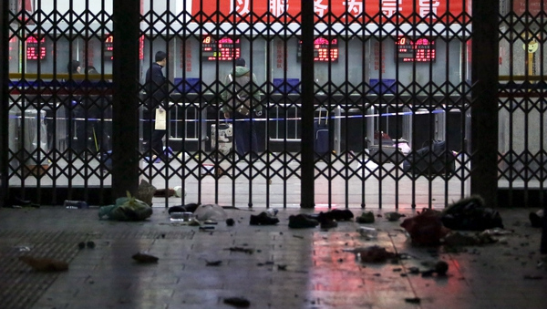 A group of knife-wielding terrorists launched an attack at the Kunming Railway Station
