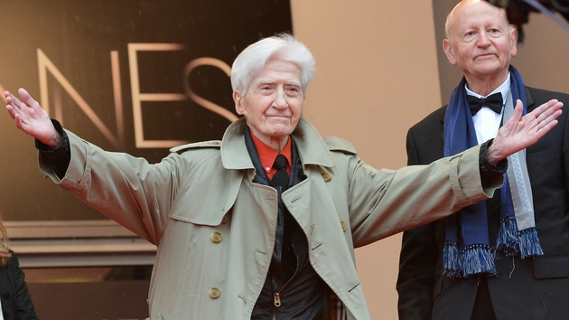 Alain Resnais at the Cannes Film Festival in 2012