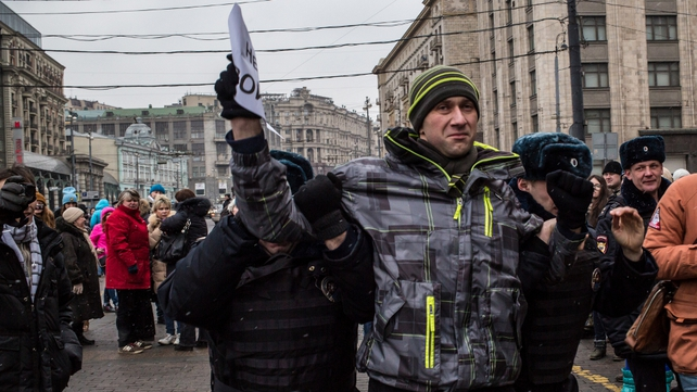 Russian anti-war activists arrested in Moscow