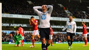 A relieved Roberto Soldado breaks his barren goalscoring spell with the opening goal at White Hart Lane