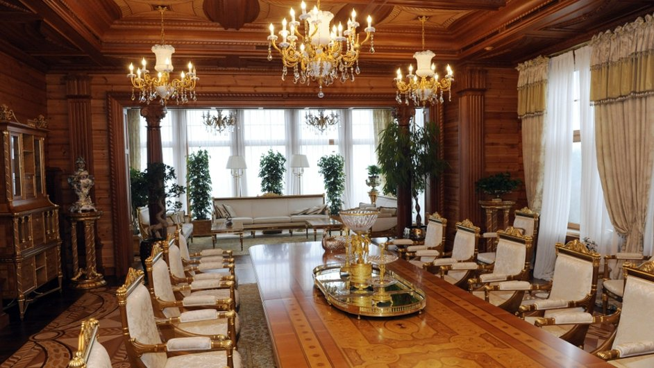 The dining room of the Mezhygirya home