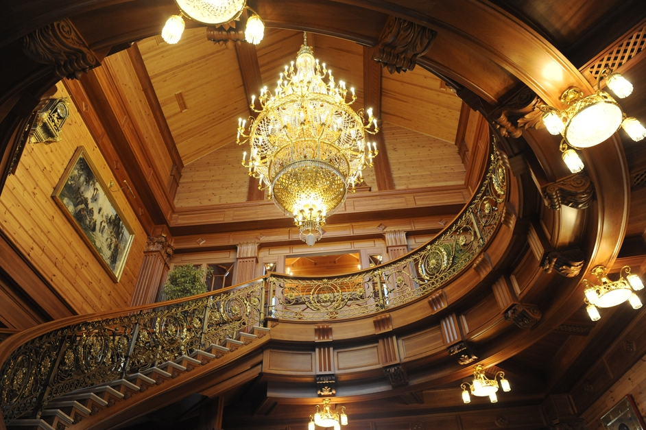 Former Ukrainian president Viktor Yanukovych's winding staircase