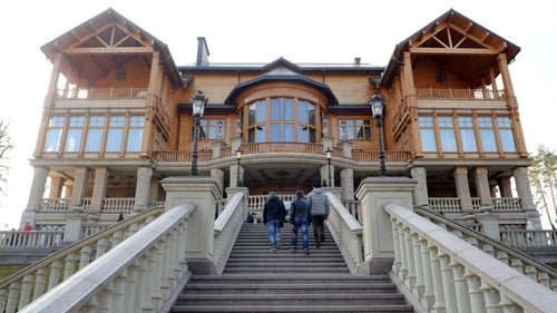 The main house of former Ukrainian president Viktor Yanukovych in Mezhygirya