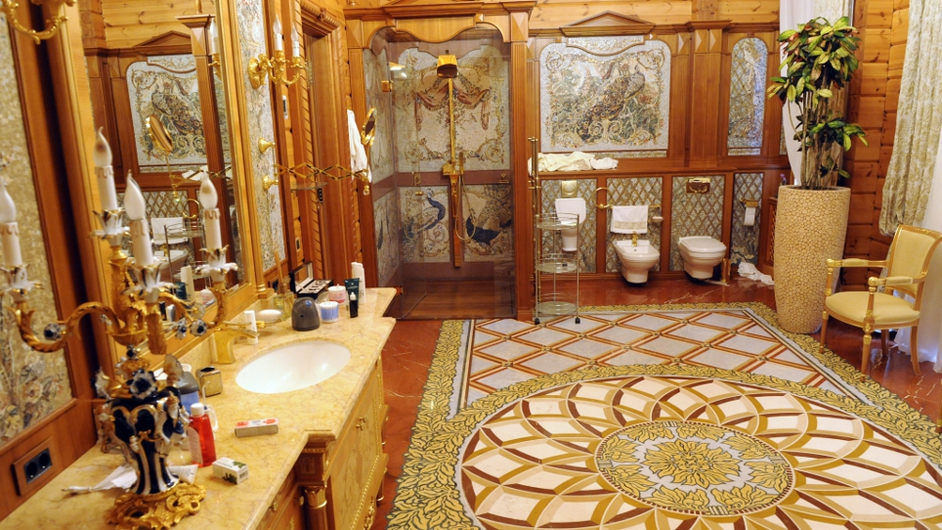 A view of a bathroom in the main house