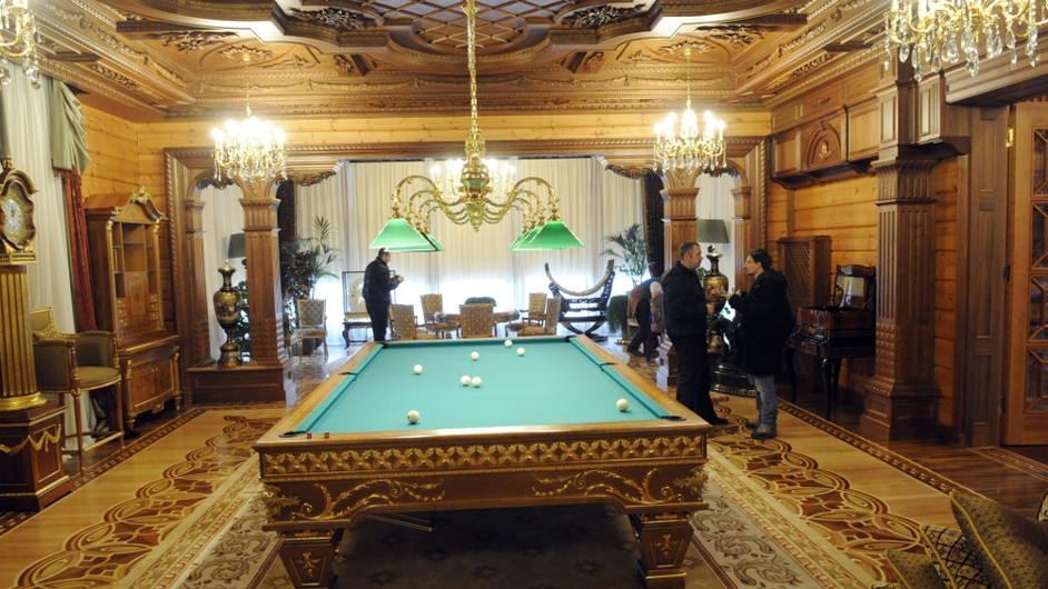 The billards room in the main house