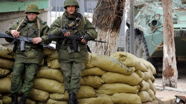 Armed men that Kiev believes are backed by Moscow have since seized key government buildings in the region