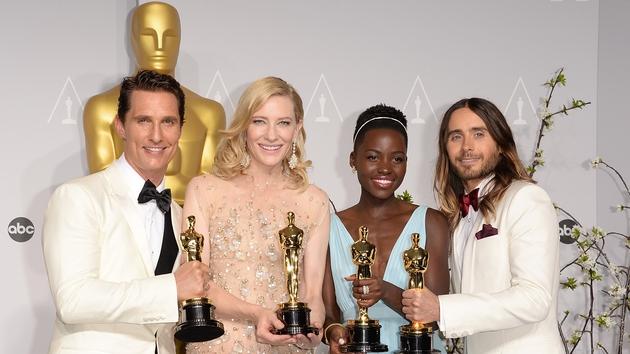 Oscar winners Matthew McConaughey, Cate Blanchett, Lupita Nyong'o and Jared Leto