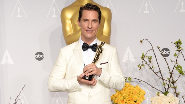 Matthew McConaughey pictured after his Oscar win