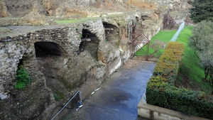 Part of an archway at Temple of Venus has collapsed