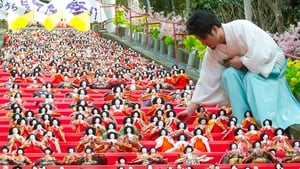 A Shinto priest places a doll on the steps at a Shinto shrine in Katsuura city, Chiba prefecture, Japan (Pic: EPA)