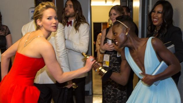 Jennifer Lawrence and Lupita Nyong'o