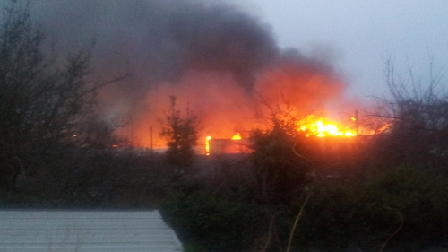 Five units of Louth fire service attended the scene
