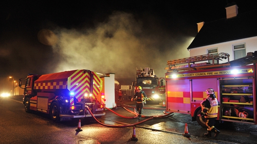 A 30-year-old man is missing following the fire