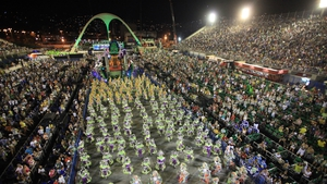 Samba school Mocidade Independente performs at sambodromo during the carnival of Rio de Janeiro (Pic: EPA)