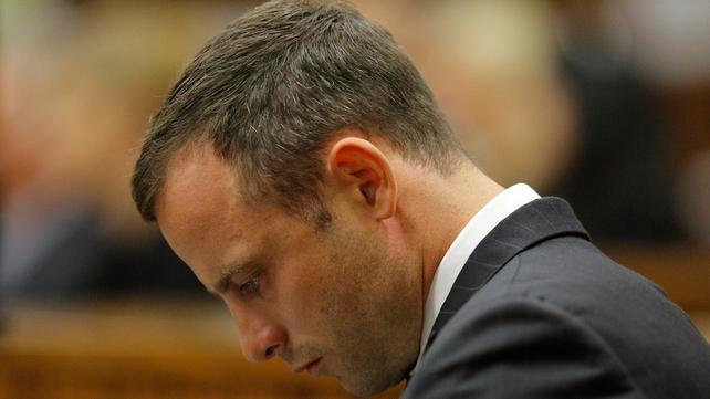 It was the second day of the Oscar Pistorius murder trial in Pretoria (Pic: EPA)
