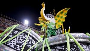 A carnival float of Mocidade Samba School