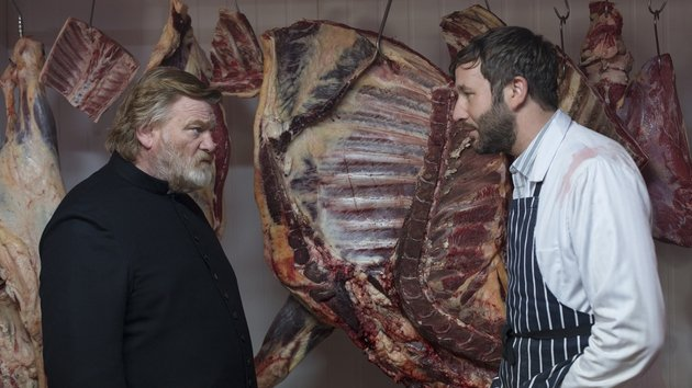 Chris O'Dowd plays an unhinged butcher