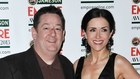 Maia Dunphy pictured with her husband Johnny Vegas