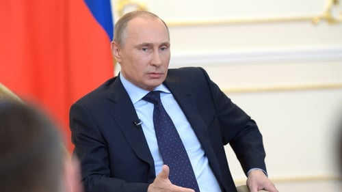 Russian President Vladimir Putin has vowed to open an account at Bank Rossiya on Monday