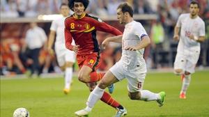 Ivanovic in action against Belgium