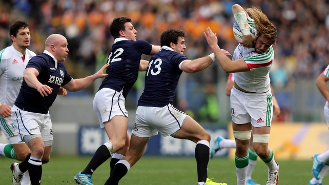 Josh Furno carries against Scotland