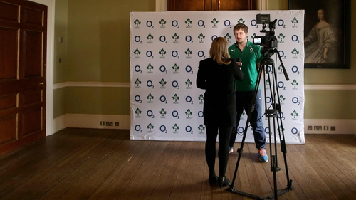 Iain Henderson speaks to the press at Carton House