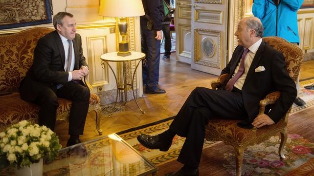 Andriy Deshchytsia and Laurent Fabius met for talks in Paris