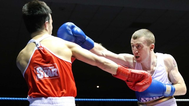 Paddy Barnes beat Blaine Dobbins to secure his final spot at the 2014 Irish National Elite Championships
