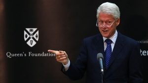Bill Clinton delivered the inaugural William J Clinton leadership lecture at Queen's University tonight