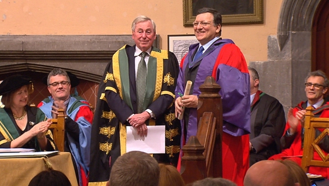José Manuel Barroso was conferred with an honorary law degree at University College Cork