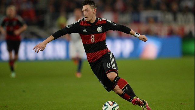 Arsenal's Mesut Ozil in action for Germany