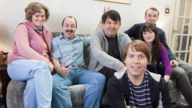 Graham Linehan takes his place on the sofa with The Walshes